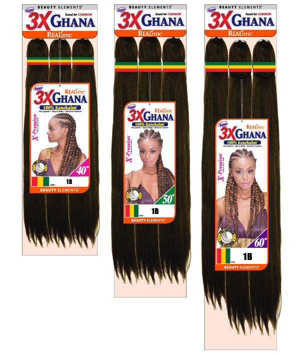 3x Ghana Braid Bijoux Hair