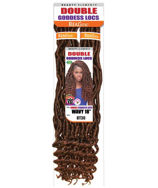 Double Goddess Locs Wavy18 Bijoux Hair