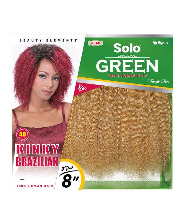 Solo Green Kinky Brazilian 8 Bijoux Hair