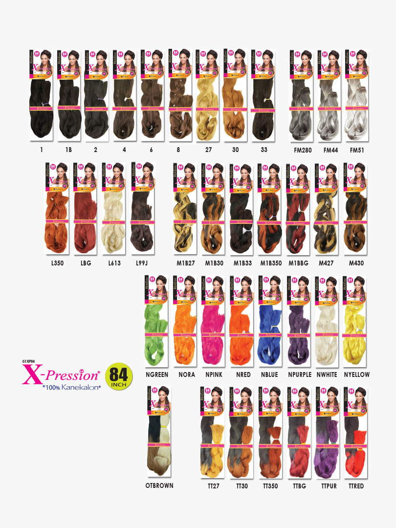 X-PRESSION-BRAID-84-COLORS